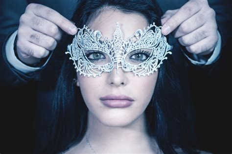 masked woman  stock photo iso republic