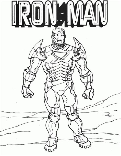Iron Man Coloring Pages Coloring Page For Kids 20