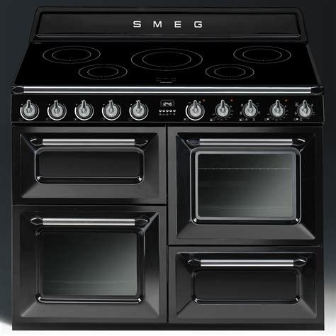piano cuisine induction smeg tr4110ibl 110cm induction range cooker black