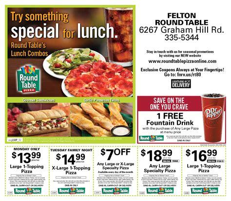round table pizza felton felton menu coupon round table pizza online