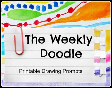 Introducing: The Weekly Doodle– Printable Drawing Prompts ...
