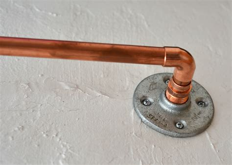 How To Make A Curtain Rod From Copper Plumber's Pipe