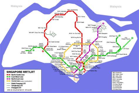 singapore city mrt tourism map  holidays detail