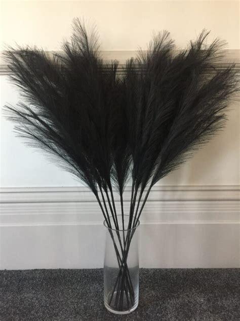 Faux Tall Black Pampas Grass Stems Pretty Pampas Uk