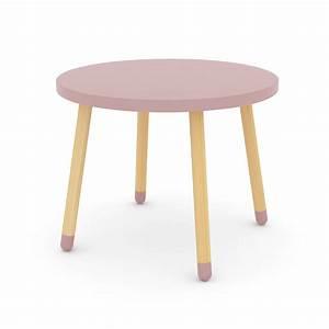 Table Scandinave Enfant : petite table rose poudr flexa play pour chambre enfant les enfants du design ~ Teatrodelosmanantiales.com Idées de Décoration