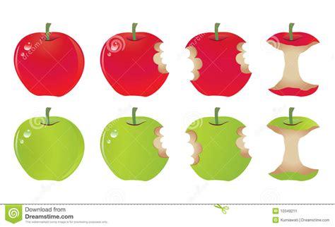 Apple Bite stock vector. Illustration of vector, healthy ...