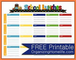 4 school menu template procedure template sample With free school lunch menu templates