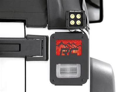 Jeep Jk Tail Light Cover by Tail Light Covers W Mountain Design For 2007 2017 Jeep