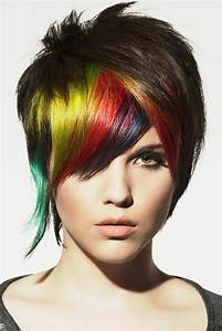 Rainbow Punk Hairstyle Hair Poster Hairdresser Salon Hair ...