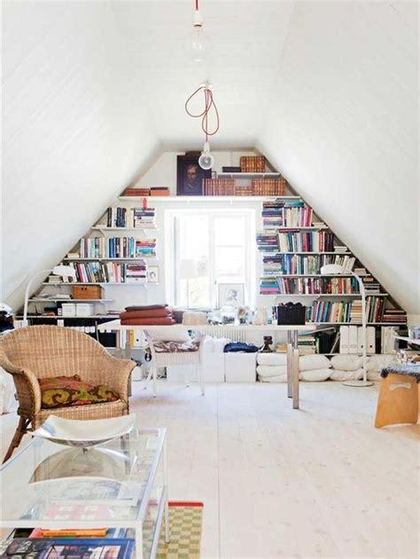 attic library design creative attic library decor ideas