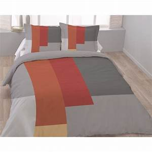 Housse De Couette 220x240 Coton : housse de couette 220x240 geometric 2 taies pur coton ~ Teatrodelosmanantiales.com Idées de Décoration
