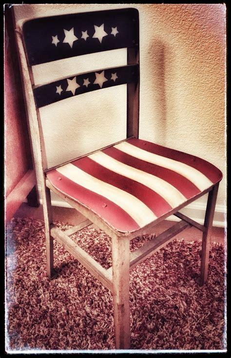 vintage school chair painted americana painted wood