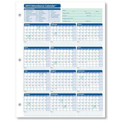 attendance calendar printable calendar design calendar