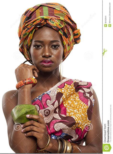 beautiful african fashion model  traditional dress