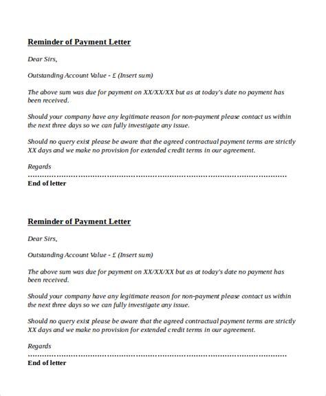 payment reminder letter templates  google docs