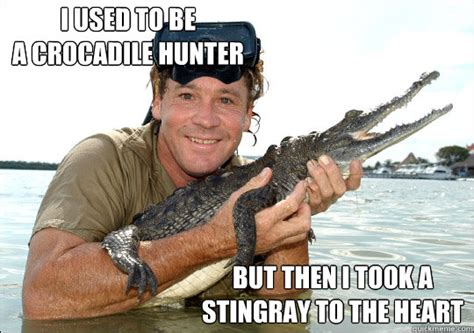 Stingray Meme - i used to be a crocadile hunter but then i took a stingray to the heart misc quickmeme