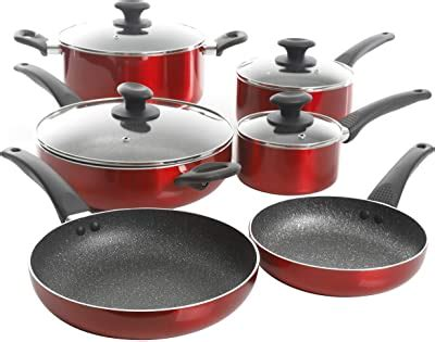 amazoncom kitchenaid hard anodized induction nonstick cookware pots  pans set  piece