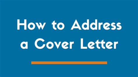 Ways To Address A Cover Letter by The 4 Proper Ways To Address A Cover Letter Exles