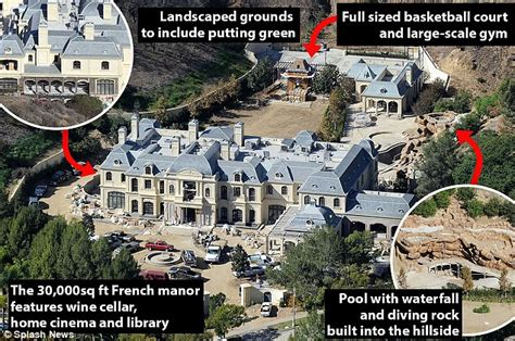 mark wahlbergs house  beverly park famous celebrity homes