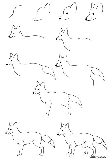 dessin renard facile dessin renard