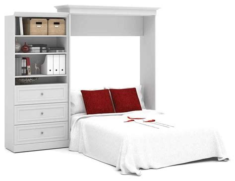 101 In. Queen Wall Bed And Storage Unit With 3 Drawers In
