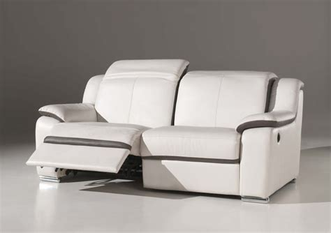 nettoyant pour canapé tissu canapé 3 places confort électrique en cuir blanc quot eclair quot