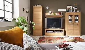Wohnwand 4teilig Wildeiche Bianco Gelt Wohnwand Holz Massiv