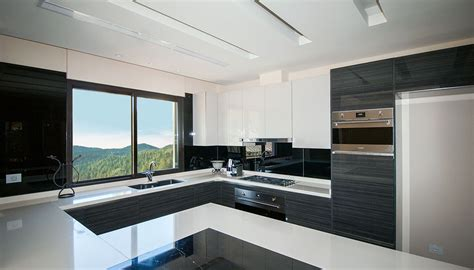 private villa modern kitchen maisons  parquets