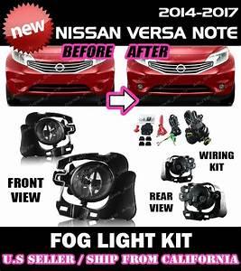 For Nissan Versa Note 14 15 16 Fog Lights Lamp Kit W
