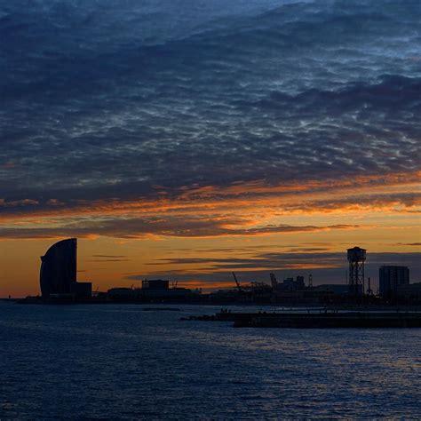 "John on Instagram: ""Sea & Sky #barcelona #sunset #skyline ..."