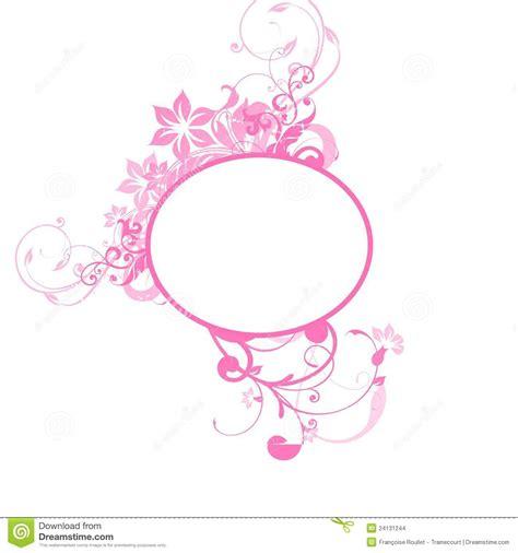 pink floral frame stock images image