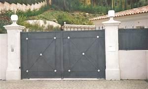 Portail Fer Forgé Plein : portail en fer plein ~ Dailycaller-alerts.com Idées de Décoration