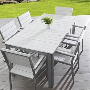Table De Jardin En Aluminium : table aluminium jardin table de salon de jardin en aluminium maison email ~ Teatrodelosmanantiales.com Idées de Décoration