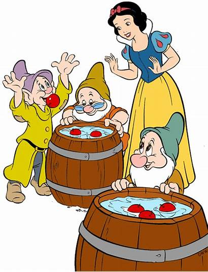 Dwarfs Seven Snow Clipart Apples Doc Dopey