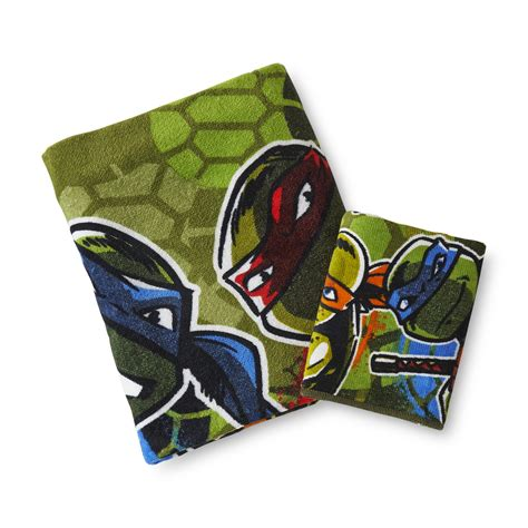 nickelodeon teenage mutant ninja turtles bath towel washcloth home bed bath bath