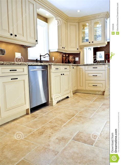 tiling a kitchen tile floor in modern kitchen stock photo image of indoor 2816
