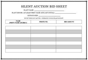 Free Template For Silent Auction Bid Sheets Silent Auction Bid Sheet Templates In Word Printable Professional Designs Demplates