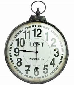 Grande Horloge Industrielle : horloge industrielle loft ~ Teatrodelosmanantiales.com Idées de Décoration
