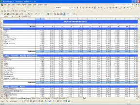 Budget Sheet Excel Template Excel Spreadsheet For Monthly Bills Spreadsheets
