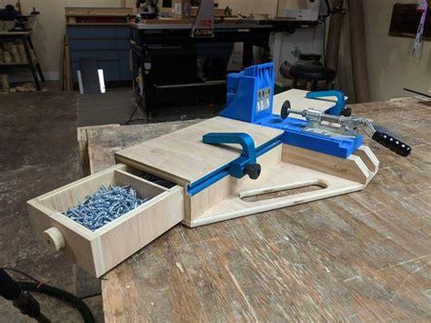 diy kreg jig  pocket hole station plans woodworking