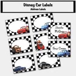Free Printable Disney Cars Labels