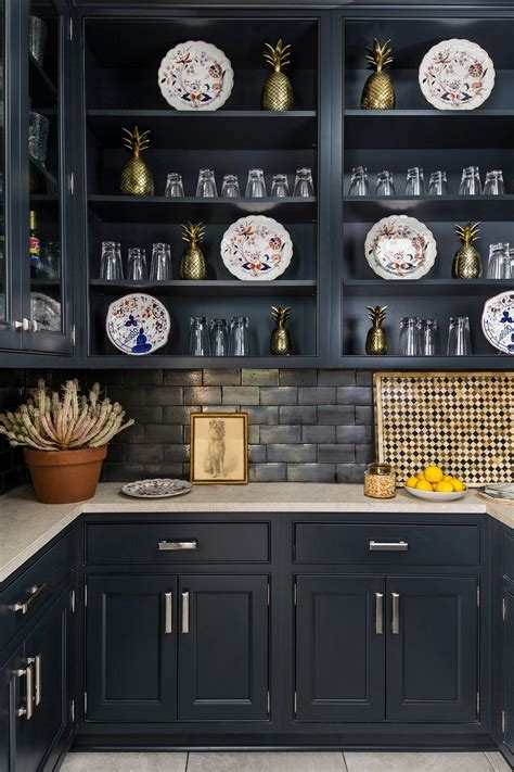 navy blue wellborn cabinetry   wet pantry
