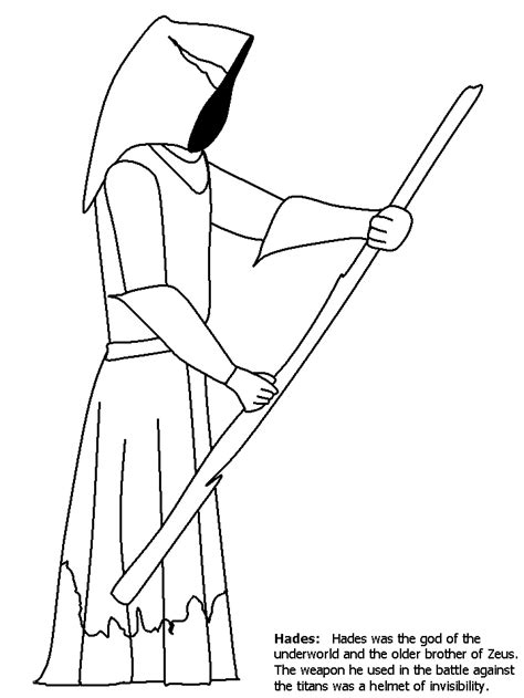 hades greek coloring pages coloring book