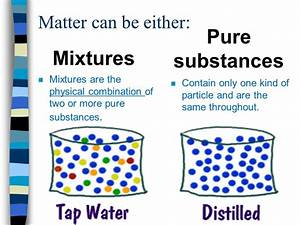 Matter can be classified as mixtures or pure substances ...
