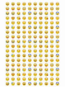 Emoji Stickers Instant Download. Print Smiley Emoticons by ...