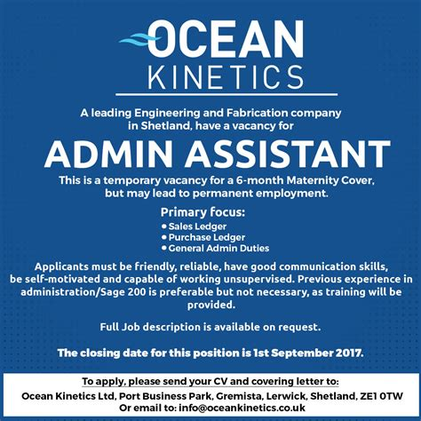 Lerwick Job Vacancy