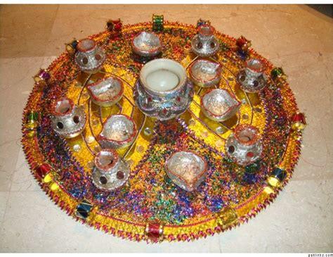 mehndi thaals  plates decoration mehndi plates