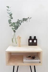 Chic DIY Mid-Century Modern Nightstand - Shelterness