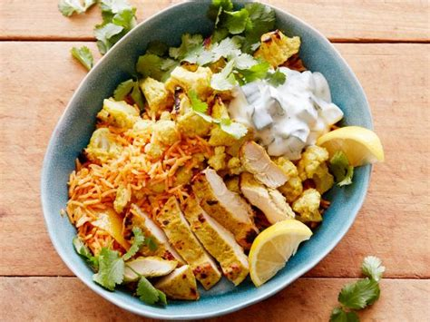 tandoori chicken  cauliflower rice bowl recipe food