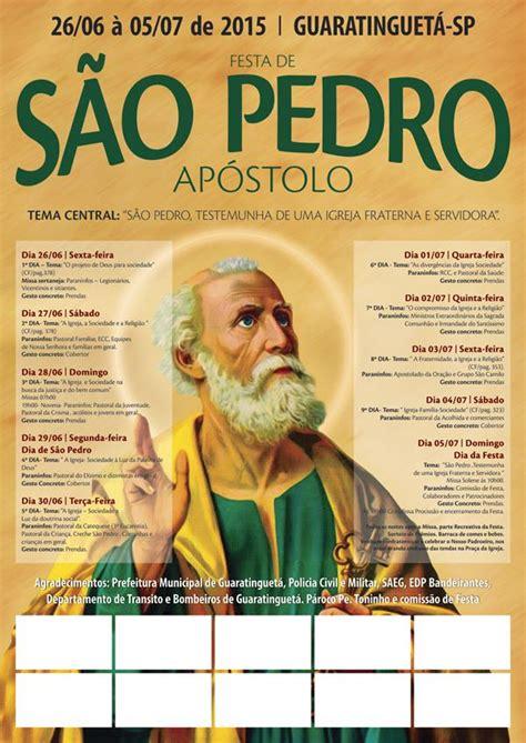 cartaz festa de sao pedro cristian fontes